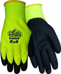 A324 CHILLY GRIP&#174 H<sub>2</sub>O WATERPROOF HEAVYWEIGHT THERMAL LINED HI-VIS NITRILE DIPPED GLOVES