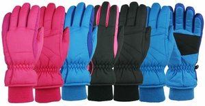 20226 GIRLS 4-6X WATERPROOF & THINSULATE&#153 SKI GLOVES
