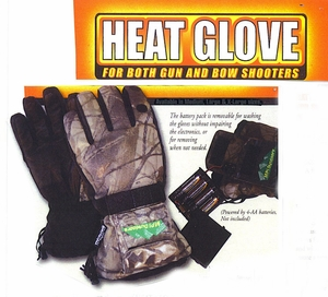 """51002-HGCL   HEAT-GLOVE   """"BATTERY POWERED HEATED GLOVES"""" CAMOUFLAGE PATTERN"""
