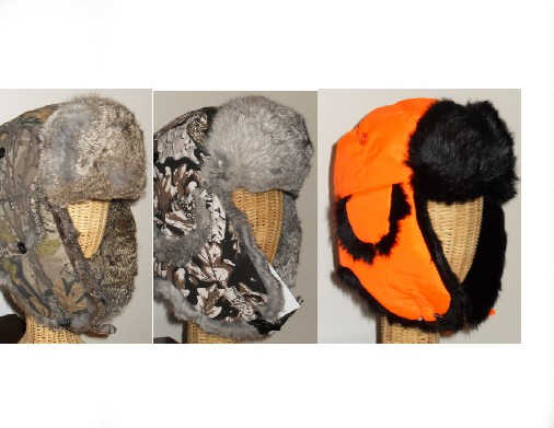 HG-SERIES  HUNTING ALASKAN RABBIT FUR AVIATOR STYLE HATS