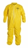 QC125SYL TYCHEM&#174 QC POLY COATED TYVEK UNHOODED COVERALLS