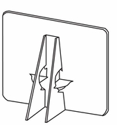 LINECO Double Wing Cardboard Easel Backs Bulk Packs