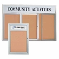 Outdoor Enclosed Bulletin Boards with Header
