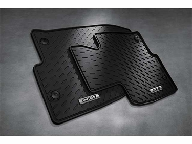 2016 2017 2018 2019 Mazda CX-9 Front All Weather Rubber Floor Mats (set of 2) 00008BN34