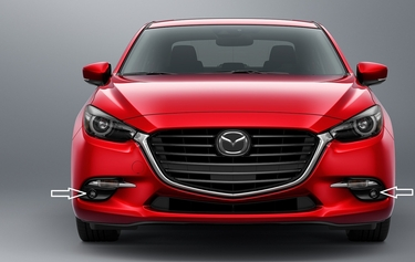 2017 2018 Mazda 3 LED Fog Lamps without Automatic Headlamps
