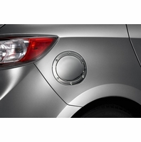 Genuine 2010-2013 Mazda 3 Chrome Fuel Door (4-door)