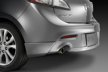 Genuine 2010-2013 Mazda 3 Painted Rear Aero Flares and Center Under Skirt Kit (5-Door)