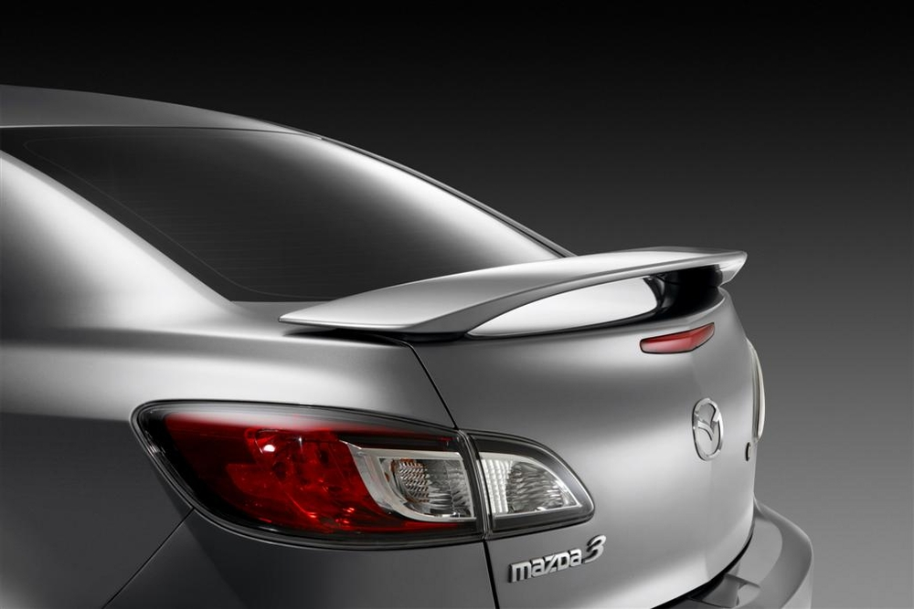 genuine 2010 2013 mazda 3 rear wing spoiler 4 door. Black Bedroom Furniture Sets. Home Design Ideas