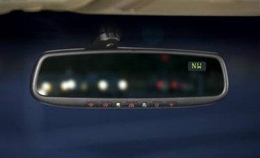 Genuine Mazda 5 Auto-Dimming Rearview Mirror with Compass and HomeLink ®