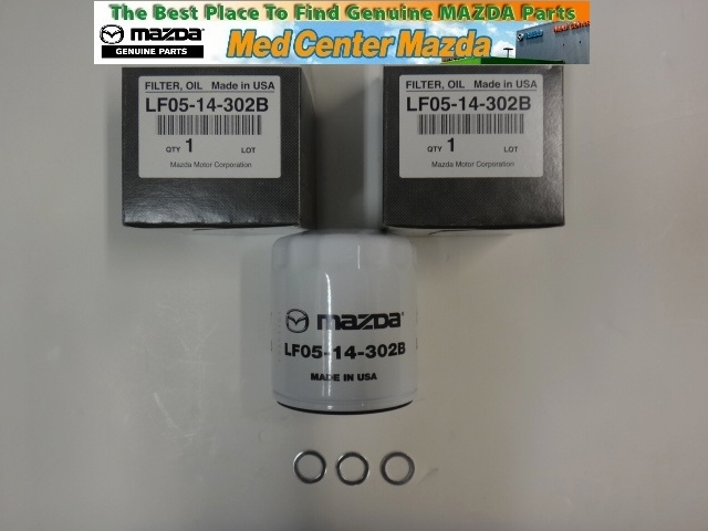 Genuine Mazda Oil Filter 3 Pack W/washers (see Drop Down Box For Models