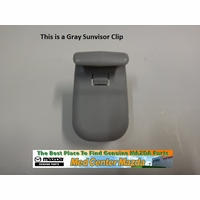 Genuine Mazda Sunvisor Clip in Gray LC6269261B77