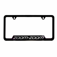 Genuine Mazda Zoom-Zoom License Plate Black