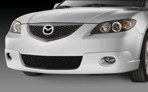 Mazda 3 Painted Front Air Dam with factory installed Fog Lamp (i model only).