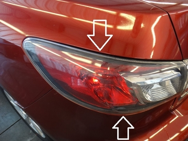 Mazda 3 Sedan Driver-Side Tail Lamp (bulb type-not LED)