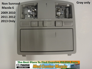 Mazda 6 Overhead Console in Gray for non sunroof car GS4A69970D75
