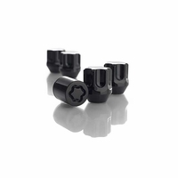 Mazda Black Locking Lug Nuts (Set of 4) 000088BLKBP