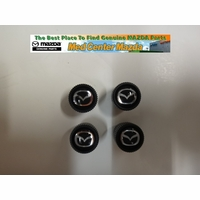 Mazda Black Valve Stem Caps (set of 4 caps) 000083Z38