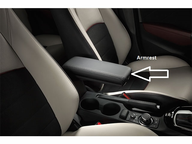 Mazda cx 3 sport model armrest with installation kit - Mazda 3 2006 interior accessories ...