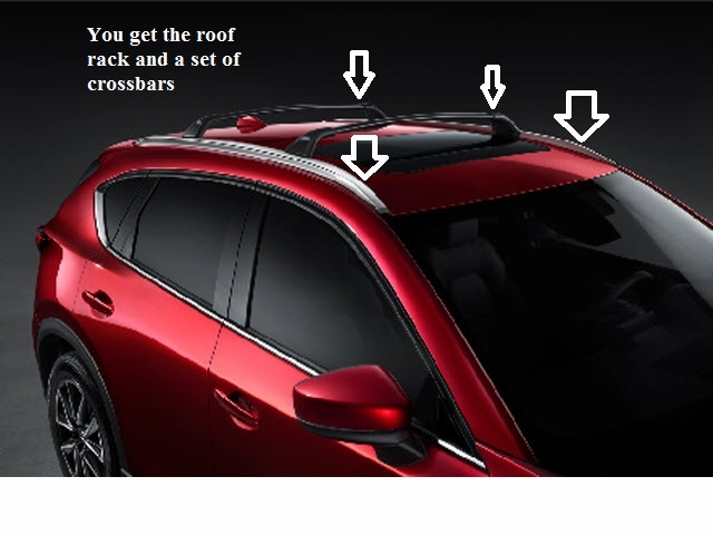 2017 2018 Mazda Cx 5 Roof Rack And Cross Bars
