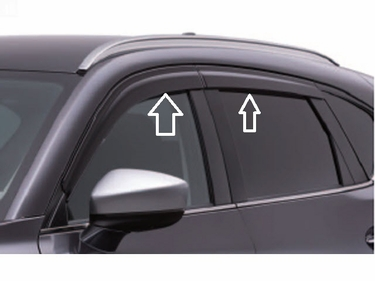 2017 2018 2019 Mazda CX-5 Side Window Deflectors (set of 4) KB7WV3700