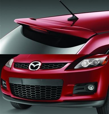 Mazda CX-7 Aero Package (Front Air Dam and Rear Spoiler)