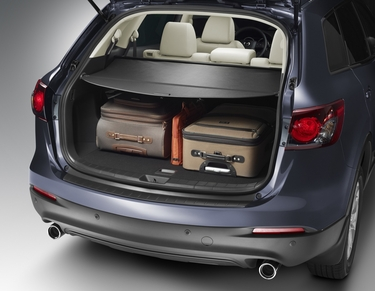 Mazda CX-9 Cargo Cover, Retractable without Power Liftgate