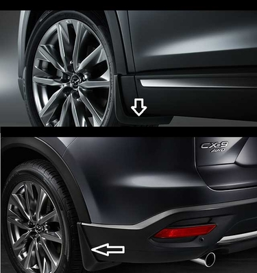 2016 2017 Mazda CX-9 Front  and Rear Splash Guards (Set of 4)