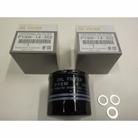 Mazda with Turbo Pack of 3 Oil Filters and Washers (Special Price)