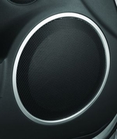 Mazda Miata Speaker Bezels (set of two)in Brushed Aluminum Finish