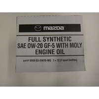 Mazda Moly Oil 0w20 Case (12 quarts) 0000G50W20MQ