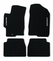 MazdaSpeed6 Black Carpet Mats with MAZDASPEED6 logo