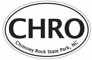 "Chimney Rock State Park Bumper Sticker 4"" x ""6"