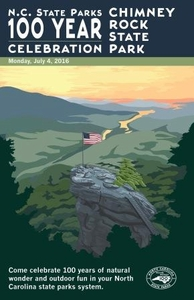 Chimney Rock State Park Commemorative Poster
