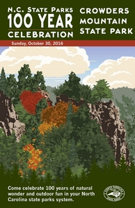 Crowders Mountain State Park Commemorative Poster