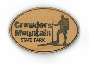 Crowders Mountain State Park Wood Magnet