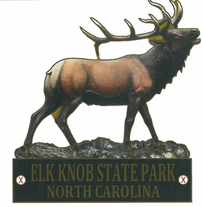 Elk Knob State Park Elk Hiking Medallion
