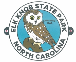 Elk Knob State Park Owl Hiking Medallion