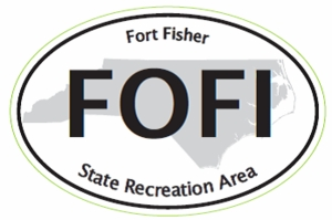 "Fort Fisher Bumper Sticker  4"" x 6"""