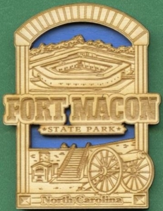 Fort Macon State Park Wood Magnet