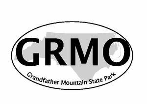 "Grandfather Mountain Bumper Sticker  4"" x 6"""