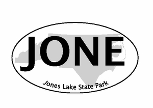 "Jones Lake Bumper Sticker  4""x 6"""