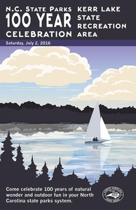 Kerr Lake State Recreation Area Commemorative Poster