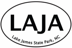 "Lake James Bumper Sticker      4"" x 6"""