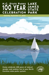 Lake James State Park Commemorative Poster