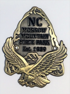 Morrow Mountain Antique Gold Plated Hiking Medallion