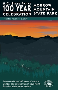 Morrow Mountain State Park Commemorative Poster
