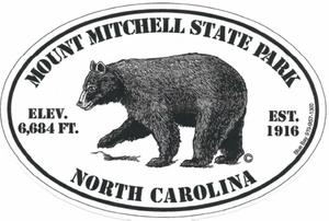 "Mount Mitchell Bear Bumper Sticker 4""x6"""