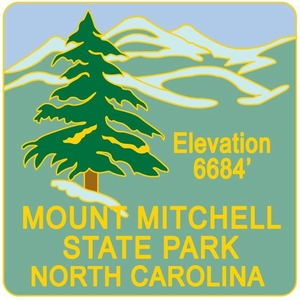 Mount Mitchell Hiking Medallion