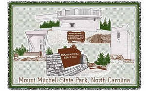"Mount Mitchell  ""towers blanket""  50""x 68"""
