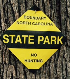 NC State Parks Boundary Markers